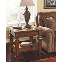 Ashley Furniture Signature Design Leedshore Square End Table, Brown