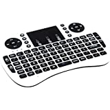 Yesea Mini Keyboard with Touchpad 2.4Ghz Wireless Qwert keyboard With Li Battery Universal Remote Control for PC Xbox 360 Ps3 Google Android Tv Box (White)