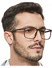 Men Fashion Rectangle Stylish Eyewear Frame With...