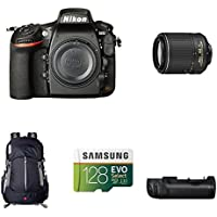 Nikon D810 FX-Format DSLR Camera with 55-200mm Lens Deluxe Battery Grip Bundle