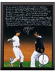 7bf374c7868aa CC Sabathia Facsimile  Jeter s Yankee Farewell  8x10 Plaque w  Game Used  Jersey