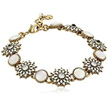 Lucky Brand Womens Mother-of-Pearl Squash Blossom Link Bracelet