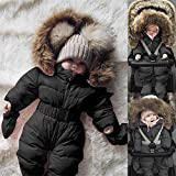 Fiaya Winter Baby Boy Girl One Size Snowsuit Puffer Down Jacket Hooded Romper Jumpsuit Warm Thick Coat Outfit