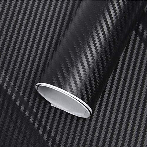 Black color   152cm x 60cm Car Accessories 3D Carbon Fiber Vinyl Car Scroll Roll Film Car Sticker & Car Decals 60 cm X 152 127 cm Lot Motorcycle Styling  (color Name  Grey color, Size  152cm x 60cm)