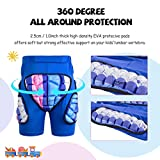 Kids Padded Shorts 3D Protection Hip Butt EVA Youth Compression Padded Shorts Children Protective Gear Guard for Ski Ice Skate Snowboard Riding Roller Cycling