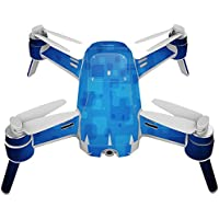 Skin For Yuneec Breeze 4K Drone – Blue Retro | MightySkins Protective, Durable, and Unique Vinyl Decal wrap cover | Easy To Apply, Remove, and Change Styles | Made in the USA