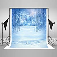 Kate - 5x7ft Ice and Snow World Photography Backdrop for Children Blue Fairy Tale Fantasy Photo Studio Backgrounds Props