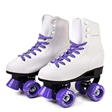 Skate Gear Soft Boot Roller Skate, Retro Fashion High Top Design in Faux Leather for Indoor & Outdoor