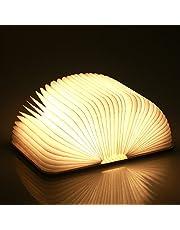 lampade libro USB ricaricabile pieghevole in legno magnetico LED Light del libro di lamp - 1000mAh batterie al litio scrivania lampada da tavolo