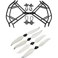 Upgraded Propellers for DJI Mavic Pro 8331 8331F Low-Noise Quick-release Folding Propellers Prop Guard Bumper Rc Quadcopter Spare Part Set (Black-White)