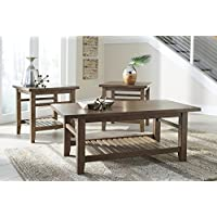 Ashley Furniture Signature Design - Zantori Occasional Table Set - Includes Cocktail Table & 2 End Tables - Light Brown
