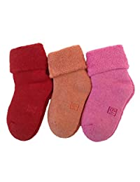 Lian LifeStyle Children's 1 Pair Cashmere Wool Socks Plain Color 3 Sizes