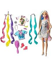 Barbie GHN04 - Barbie Fantasy Hair-docka med sjöjungfru- och enhörningsstil