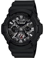 Casio GA201-1A Mens Black G-Shock Analog Digital Black Dial Shock Resistant