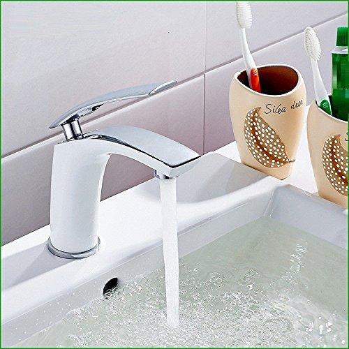 Gyps Faucet Waschtisch-Einhebelmischer Waschtischarmatur Badarmatur Die Verkupferung gegrillten gegrillten gegrillten weißen Lack Töpfe Küche Badezimmer Einzigen Griff Einzelne Bohrung sitzen - in Warmen und Kalten was 77262e
