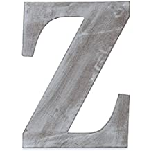"""The Lucky Clover Trading  """"Z"""" Wood Block Letter, 14"""" L, Charcoal Grey"""