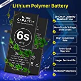 [2600mAh] Battery for iPhone 6S, LCLEBM New 0 Cycle Higher Capacity Battery Replacement for iPhone 6S with Complete Professional Repair Tools Kits - 1 Year Warranty