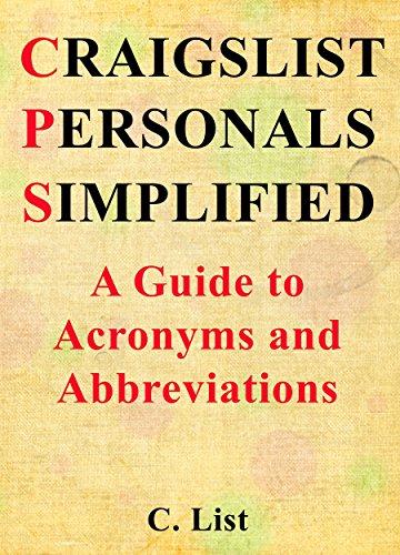 Craigslist personals abbreviations