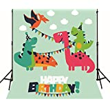 Happy Birthday Photo Backdrop Hand Paint Cartoon Dinosaur Dragon Photography Background Photo Studio Wallpaper Kids Children Party Decoration 2998