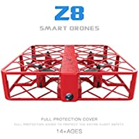 Glorrt Z8 RC Mini Drone 0.3MP Wifi 2.4G 6AXIS Altitude Hold UFO Quadcopter Pocket Drone (red)