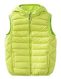 HengJia Children Packable Hoodie Puffer Down Vest Jacket Lightweight Waistcoat