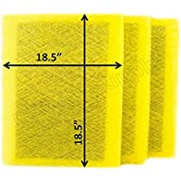 Air Ranger Replacement Filter Pads 20x21 (3 Pack) YELLOW