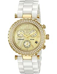 Precimax Womens PX13375 Lily Elite Crystal Analog Display Japanese Quartz White Watch