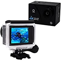 Action Camera 4K Ultra HD 16.0 MP WIFI 1080p 60fps 170 Degree Wide Angle 2 Inch LCD Screen