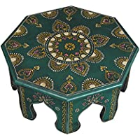 Pooja Chowki Decorative Small Table Stool 12 X 12 X 6 Inches
