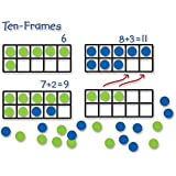 Learning Resources LER6644 Giant Magnetic Ten-Frame Set, Set of 4