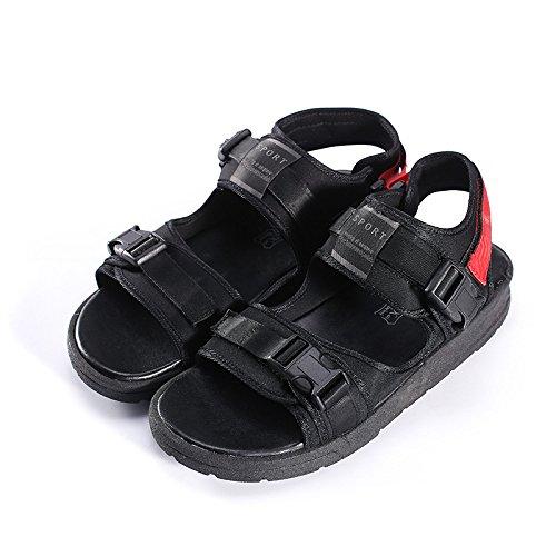 Xing Lin Sandalias De Hombre Sandalias Muchachos Sandalias Y Zapatillas Moda Infantil Calzado Casual De Jóvenes Estudiantes De Verano Salvaje Perezoso Inglaterra 43 Rojo 43|red red