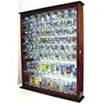 110 Souvenir Shot Glass Shooter Display Case Holder Cabinet Wall Rack, (SC09-MA)