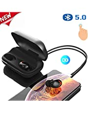 Auriculares Bluetooth, Siikii Auriculares Bluetooth Inalmbricos Mini Twins Estreo In-Ear Bluetooth 5.0 con Caja de Carga Porttil Y Micrfono Integrado para Sport