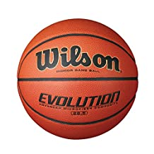 Wilson Evolution Intermediate Size Game Basketball, Brown