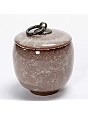 XSWZAQ Funeral Urn For Human Cremation Ashes Packaging Ceramic Pot Universal (Adult Or Pet) Sealing Can Home Giver (Multi-color Optional) (Color : 2#)
