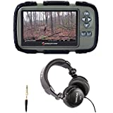 Stealth Cam SD Card Reader and Viewer (For Videos and Images) with 4.3 LCD Screen and Tascam TH-03 Headphones