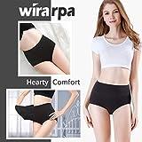wirarpa Women's Cotton Underwear High Waisted Full