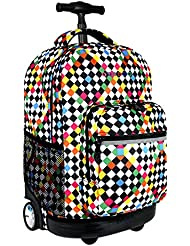 J World New York Sunrise Rolling Backpack - 18