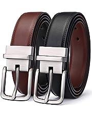 BULLIANT Cinturón Hombre, Cinturón Cuero Reversible 31MM, Cintura Invertire a Due Colori,Tamaño Ajuste