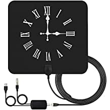 Indoor Digital TV Antenna Up to 80 Miles Range Freeview Local Channels for 4K HD VHF UHF with Detachable Amplifier Signal Booster Strongest Reception
