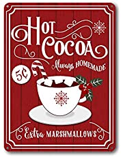 Goutoports Christmas Decor Signs Farmhouse Decorative Red Vintage Wall Decorations - 7.9x11.8 Inch