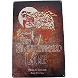 AN AMERICAN WEREWOLF IN LONDON: THE SLAUGHTERED LAMB Metal Sign by Arcane Store