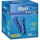 ReliOn 30G Ultra-Thin Lancets, 100-ct