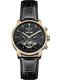 """Ingersoll Men's IN4511RBK """"Okies"""" Stainless Steel Automatic Watch with Black Genuine Leather Band"""