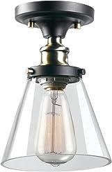 d845cd1348b Globe Electric 65380 Jackson 1-Light Flush Mount Ceiling Light