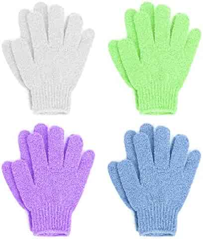 Linda Exfoliating Bath Gloves, Pack of 4
