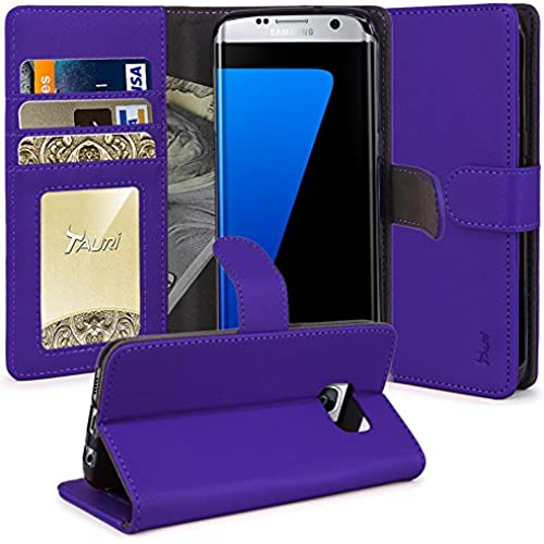 Galaxy S8 Plus Case, Tauri [Stand Feature] Wallet Leather Case with Card Pockets Protective Flip Cover For Samsung Galaxy S8 Plus - Purple Sales