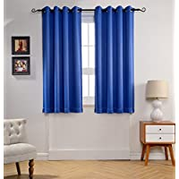 MYSKY HOME Solid Grommet top Thermal Insulated Window...