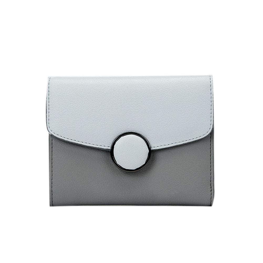 B Ladies Luxury High Quality Soft Real Leather Small Purse Multi Credit Card Wallet (color   D, Size   11.6cm1.5cm8.5cm)