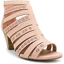 My Delicious Shoes Women's Synthetic Dressy Heel Sandals
